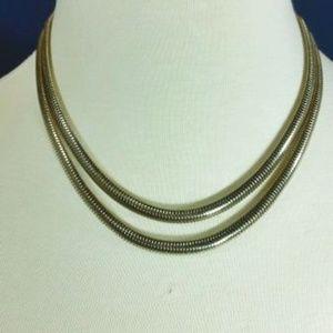 Monet Gold Tone Omega Necklace